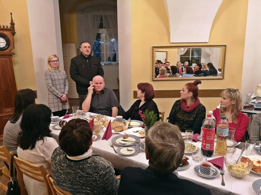 Spotkanie opłatkowe - wizyta ks. Piotra